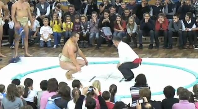 Pokaz Sumo - Szkoła podstawowa w Lelowie
